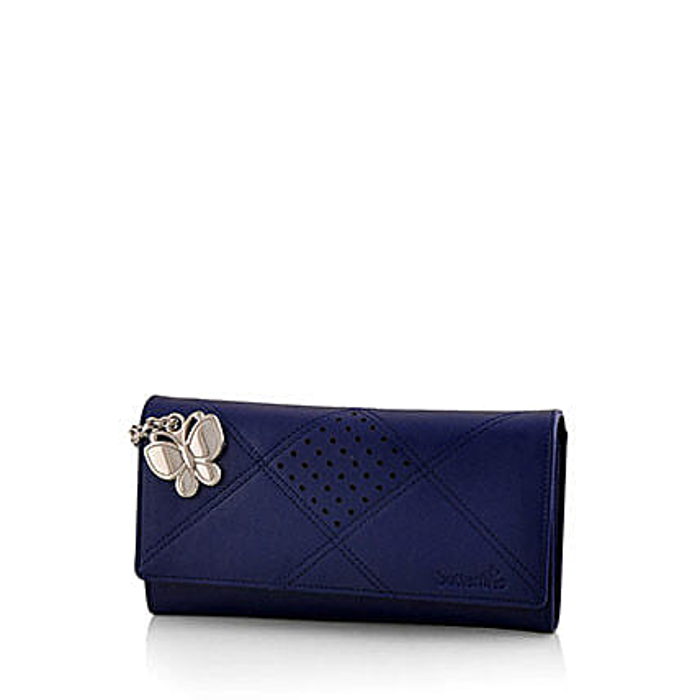 Butterflies Exotic Blue Wallet