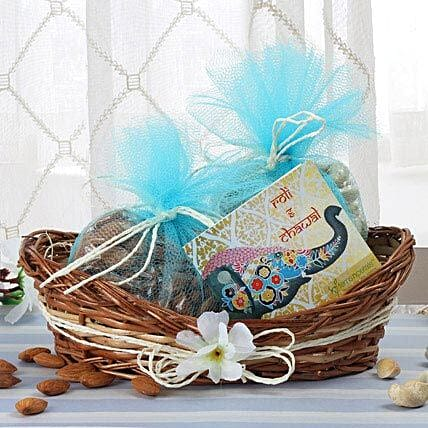 Cane Basket Of Dry Fruits