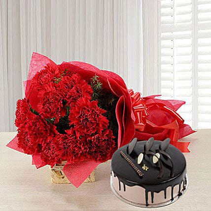 Carnations of Love Combo Eggless