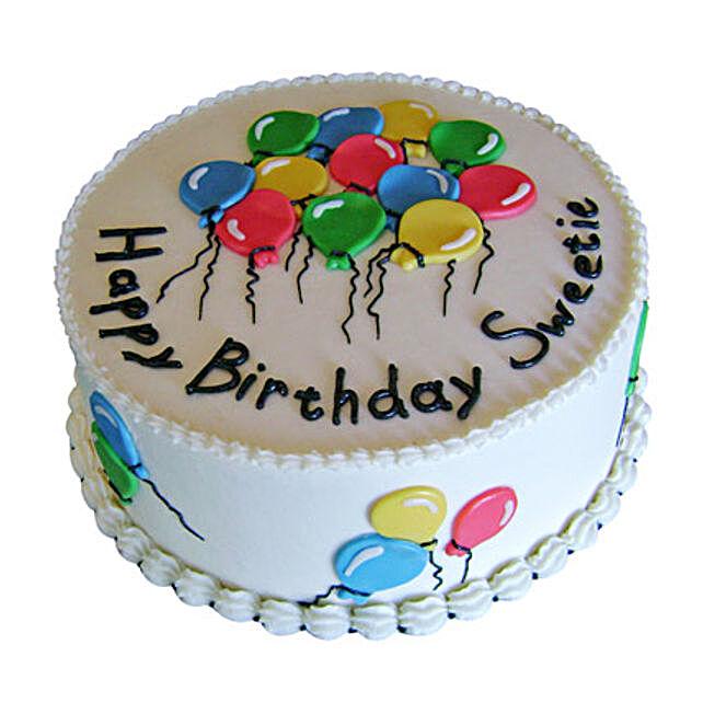 Charm of Balloons Cake 1kg Truffle Eggless