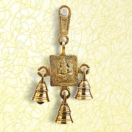 Chaturbhuj Soan-7 inches height Brass Door Soan