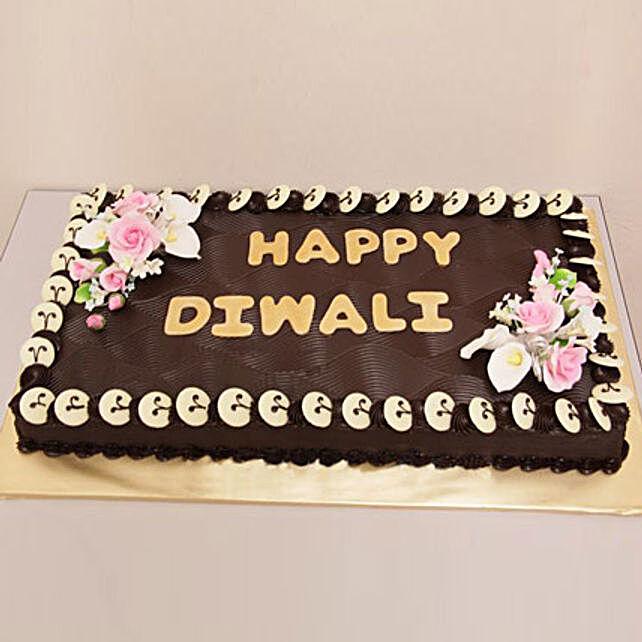 Chocolate Frenzy Diwali Cake 2kg Eggless