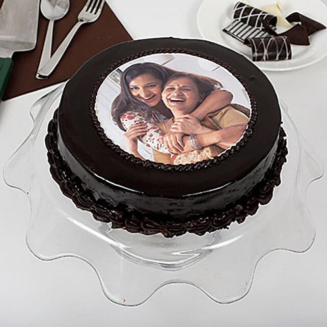 Chocolaty Mothers Day Photo Cake 1kg Eggless