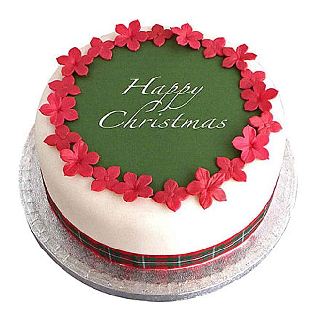 Christmas Fondant Cake Chocolate 3kg Eggless