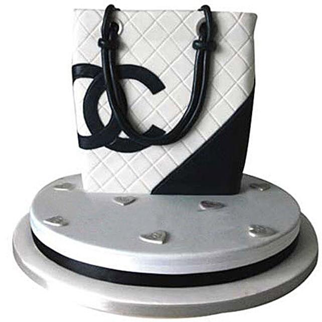 Classy Chanel Bag Cake 4kg Eggless Butterscotch