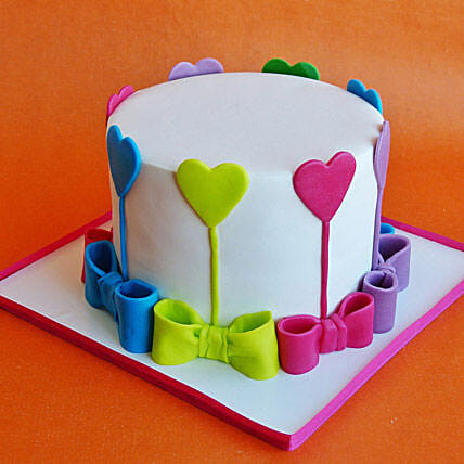 Colors Of Love Cake 2kg Vanilla Eggless