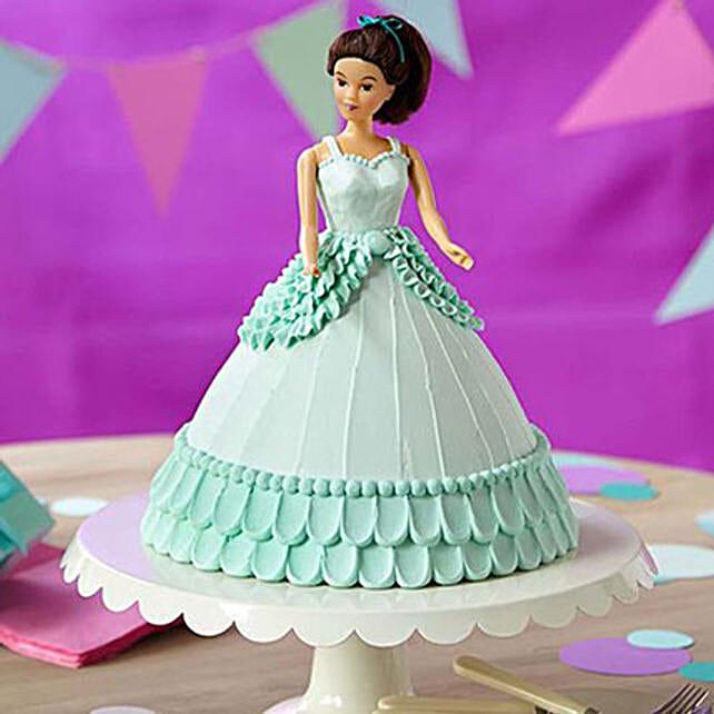 Cool Blue Barbie Cake Pineapple 2kg