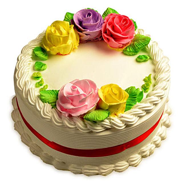 Creamy French Vanilla Cake 1kg Eggless