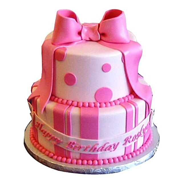 Cute Pink Gift Cake 4kg Eggless