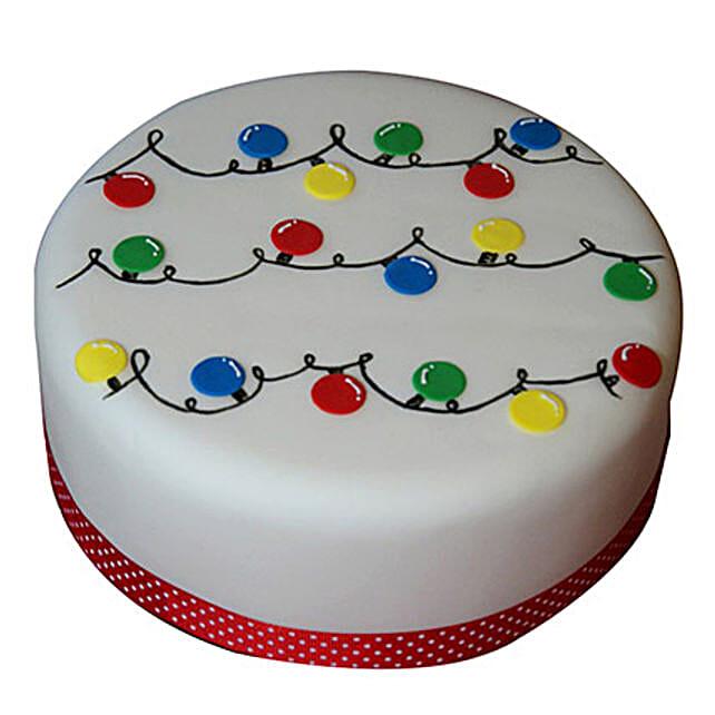 Decorative Christmas Fondant Cake 1kg Butterscotch