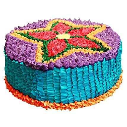 Deepavali Theme Cake 3kg Eggless Pineapple