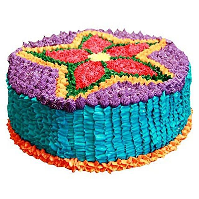 Deepavali Theme Cake 4kg Eggless Vanilla