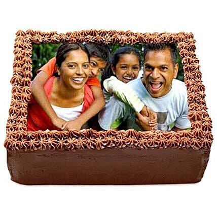 Delicious Chocolate Photo Cake 2kg by FNP