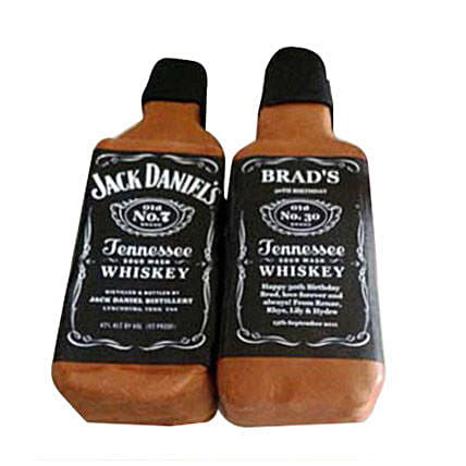 Delicious Jack Daniels Cake 4kg Chocolate Eggless
