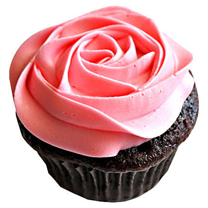 Delicious Rose Cupcakes 6 Eggless