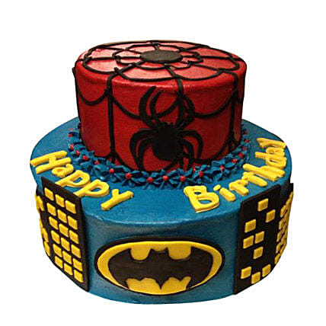 Dual Batman Spiderman Cake 5kg