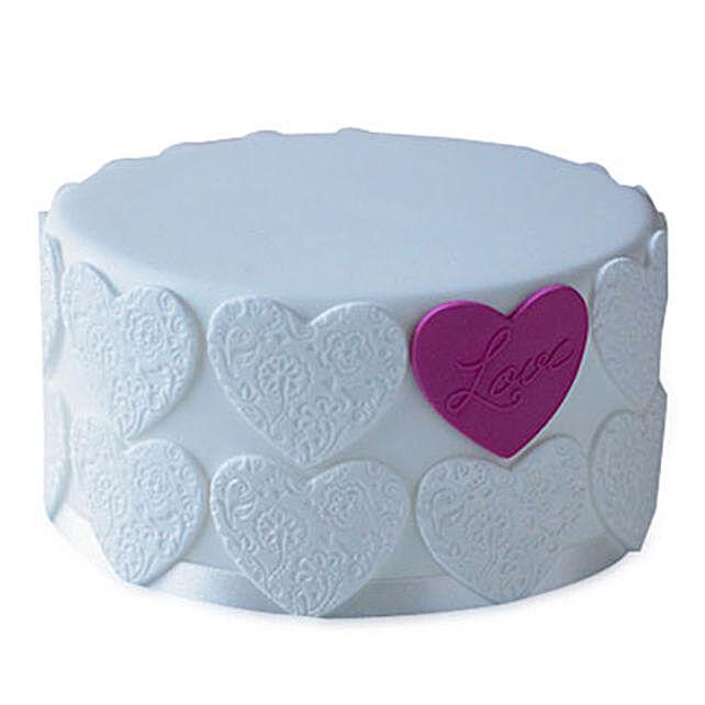 Elegant Love Cake 4kg Eggless Chocolate