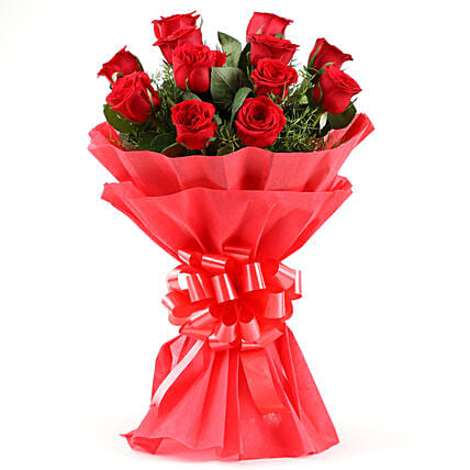 Emotions - Bouquet of 12 Red Roses.:Send Wedding Gifts to Bengaluru