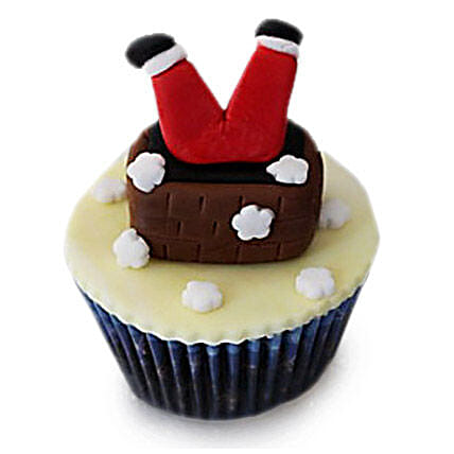 Falling Santa Cupcakes 12