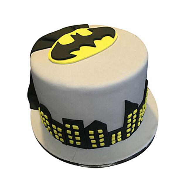 Swell Fancy Batman Cake 2Kg Eggless Black Forest Gift Batman Birthday Birthday Cards Printable Opercafe Filternl