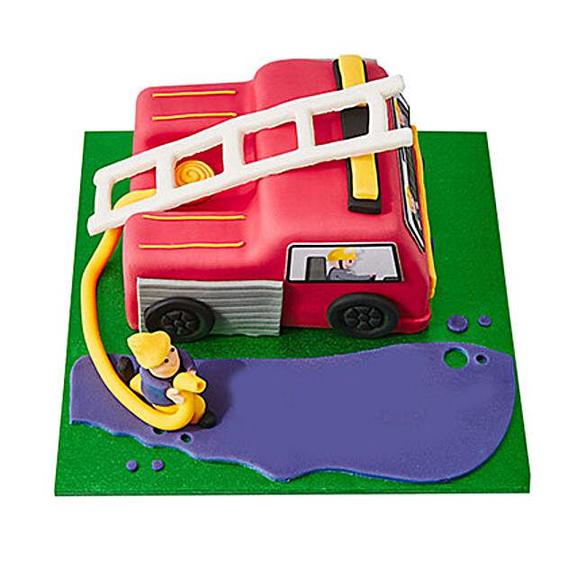 Fire Engine Fondant Cake Chocolate 3kg Eggless