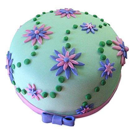 Flower Garden Cake 1kg Eggless Pineapple