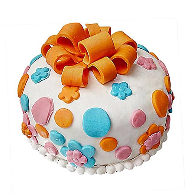 Pleasant Fondant Baby Bash Cake 2 Kg Black Forest Eggless Gift Fondant Personalised Birthday Cards Beptaeletsinfo