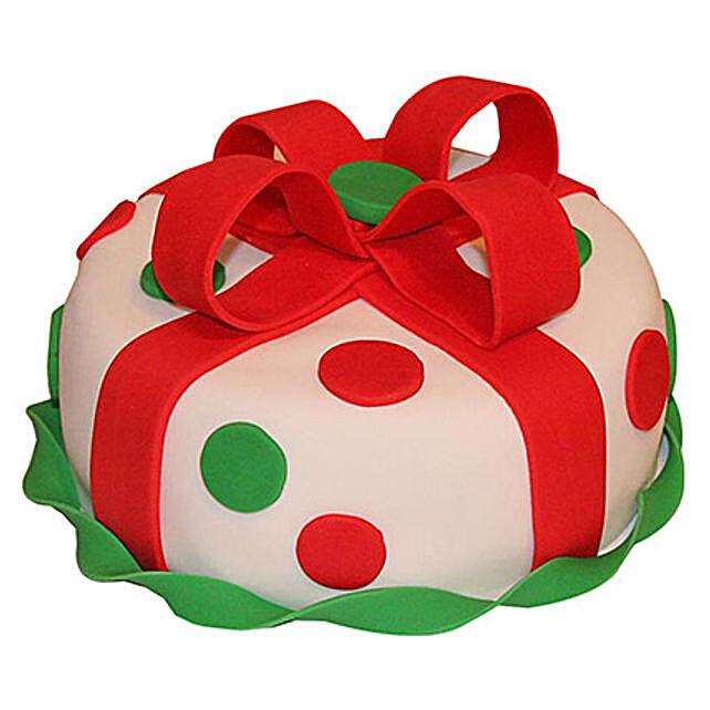 Fondant Christmas Cake 1kg Black Forest Eggless