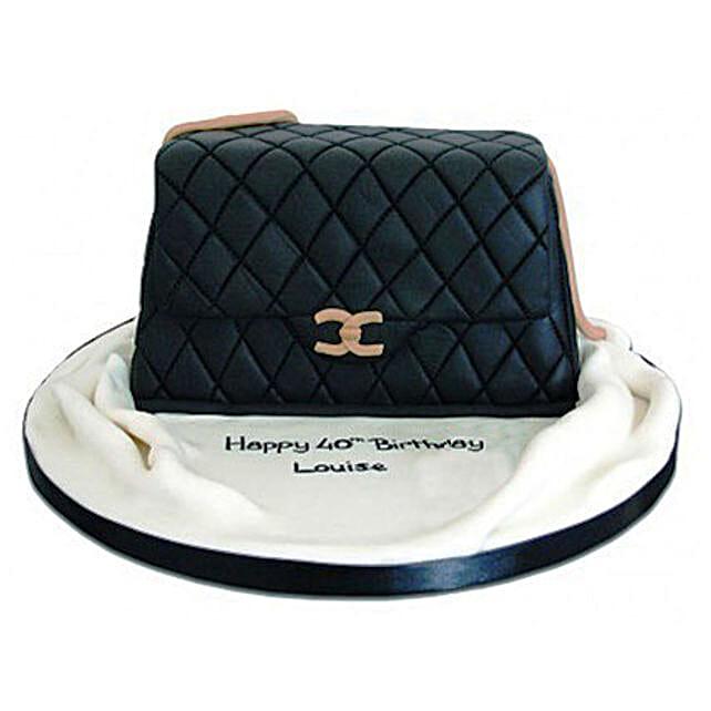 Fondant Handbag Cake 4kg Eggless