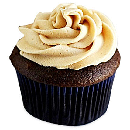 Frosted Peanut Butter Cupcakes 24 Eggless