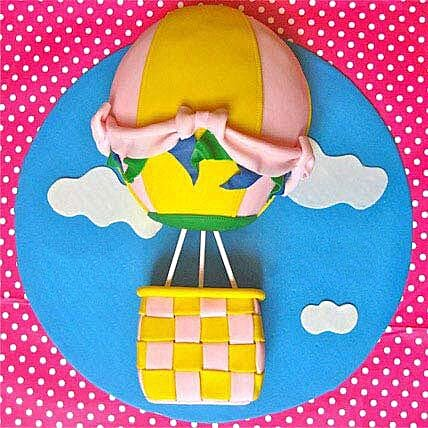 Funky Fondant Balloon Cake 2kg Eggless Butterscotch