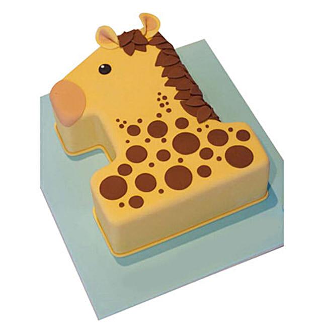 Incredible Giraffe Delight Cake 2Kg Chocolate Gift Number 1 Birthday Cake Personalised Birthday Cards Beptaeletsinfo