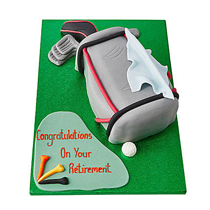 Golf Bag Fondant Cake Butterscotch 3kg Eggless