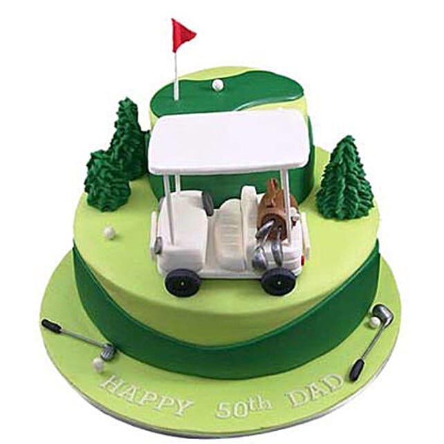 Golf Car Cake 4kg Eggless