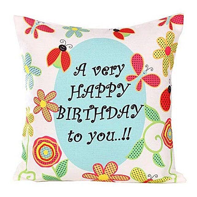 Happy Birthday Cushion By FNP