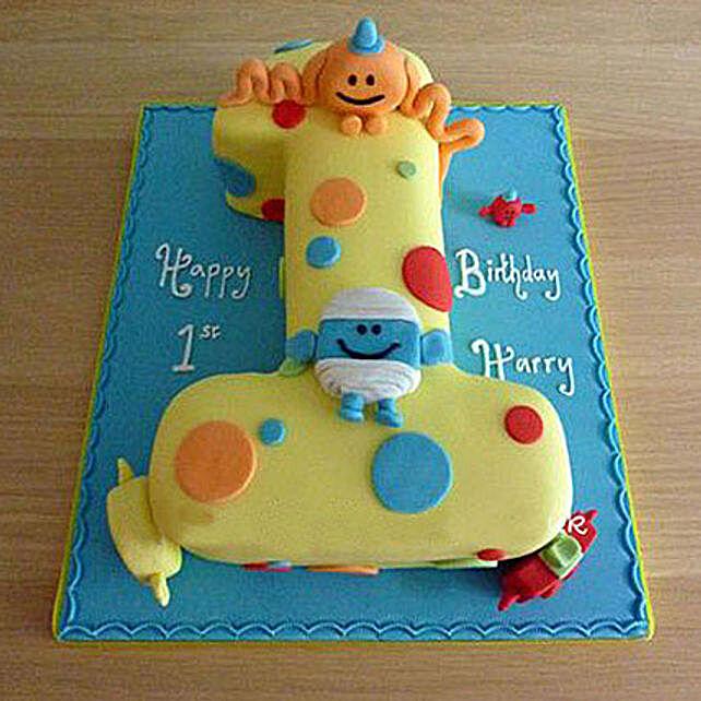 Happy Birthday Toddler Cake 4Kg Eggless Black Forest