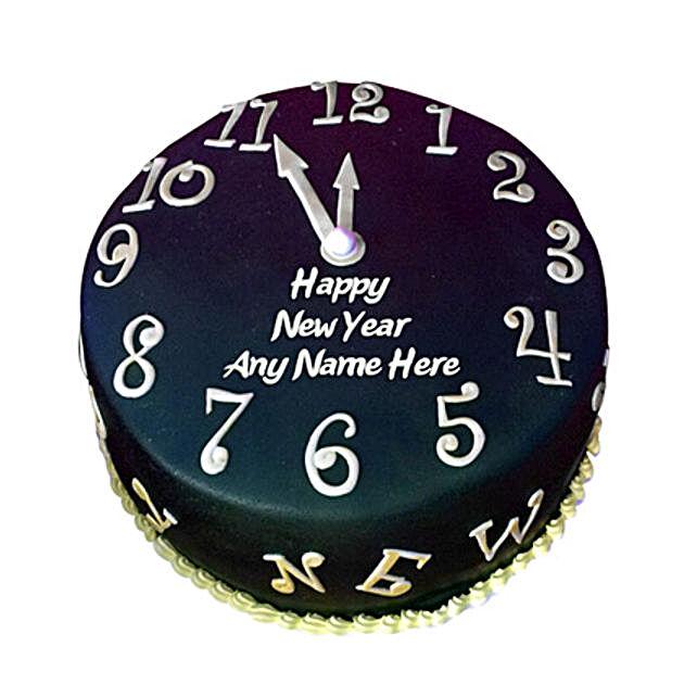 Happy New Year Countdown Fondant Cake 2kg