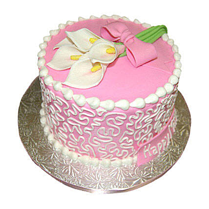 Lily Cake 2kg Pineapple Eggless