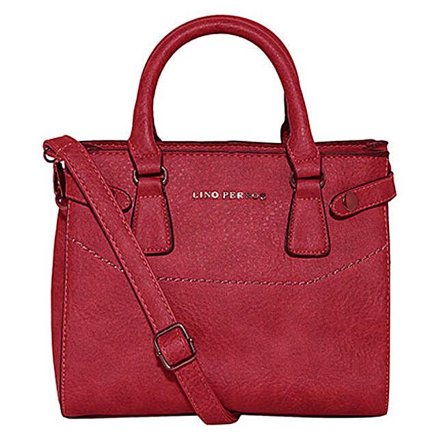 Lino Perros Stylish Red Handbag