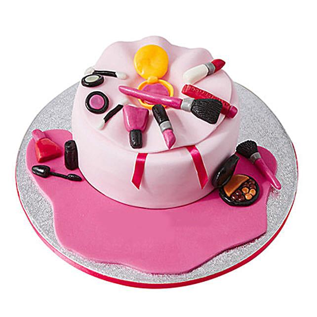 Make Up Bag Fondant Cake Black Forest 3kg