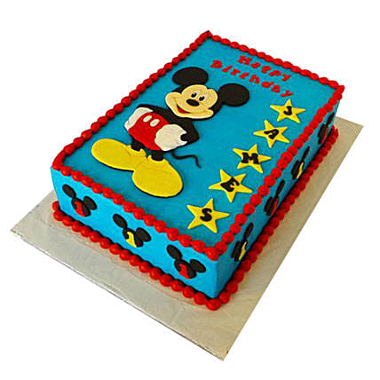 Excellent Mickey Mouse Designer Fondant Cake 3Kg Truffle Gift 5 Star Personalised Birthday Cards Paralily Jamesorg