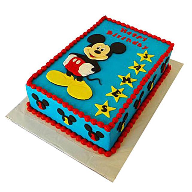 Incredible Mickey Mouse Designer Fondant Cake 3Kg Truffle Gift 5 Star Birthday Cards Printable Opercafe Filternl