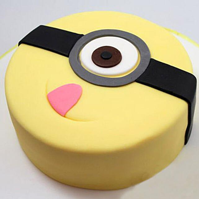 Terrific Minion Stuart Cake 1Kg Vanilla Gift Despicable Me Theme Cake Funny Birthday Cards Online Elaedamsfinfo