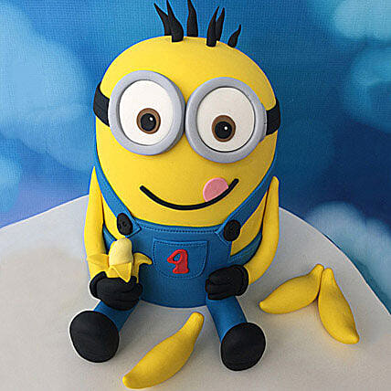 Minion with Bananas Cake 4kg Black Forest