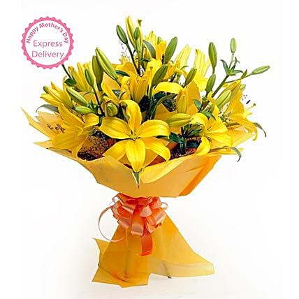 Mothers Day Spl Asiatic Lilies by FNP