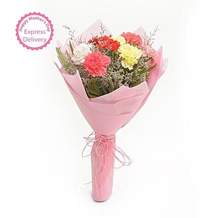 Mothers Day Spl Multicolored Carnations FNP