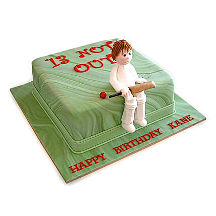 Not Out Cricket Cake 3Kg Eggless Vanilla