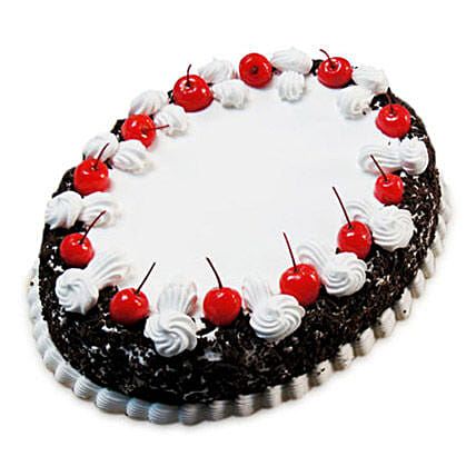 Oval Blackforest Spell 1kg:Order Cakes  In Warangal