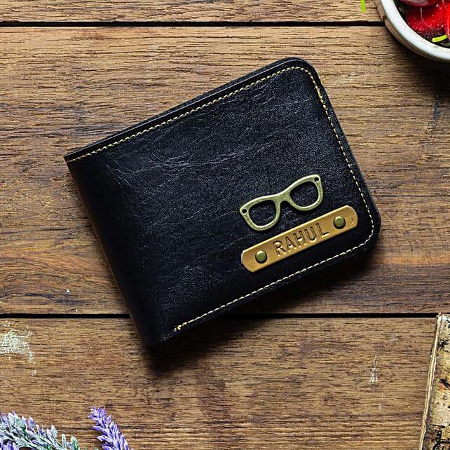 Personalised Black Mens Wallet