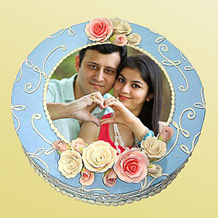 1kg Photo Cake:Photo Cakes to Kanpur